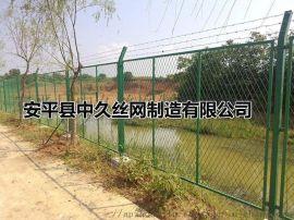 养殖圈地护栏 铁路安全隔离栅 草绿浸塑护栏网