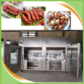 香辣红肠蒸煮烟熏烘干炉-腊肠豆干烟熏箱诸城食品机械