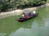济南木船厂家出售承德度假村景区旅游船木船仿古手划船