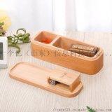 櫸木便攜式木盒創意黑胡桃木質公司印章盒實木收納盒