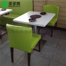 深圳厂家直供大理石板式火锅桌 多多乐家具