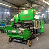 养殖饲草全自动青储打包机,固定式青贮打捆机