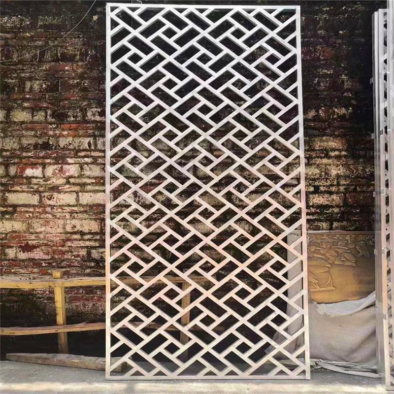 合浦县仿木纹铝花格窗 仿古木纹铝窗花厂家特色设计
