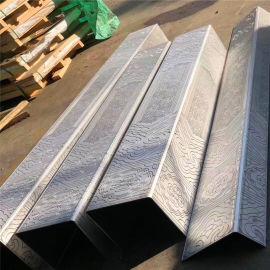 南宁热转印仿古铝型材方管 格栅背景墙型材铝方管
