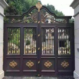 台州天台县欧式庭院大门欧式铁艺护栏按需定制