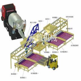 内蒙古呼伦贝尔混凝土预制件生产线混凝土预制件布料机视频