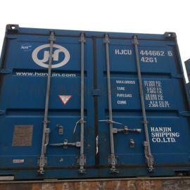 東莞大量集裝箱,40尺平箱出租,二手  貨櫃
