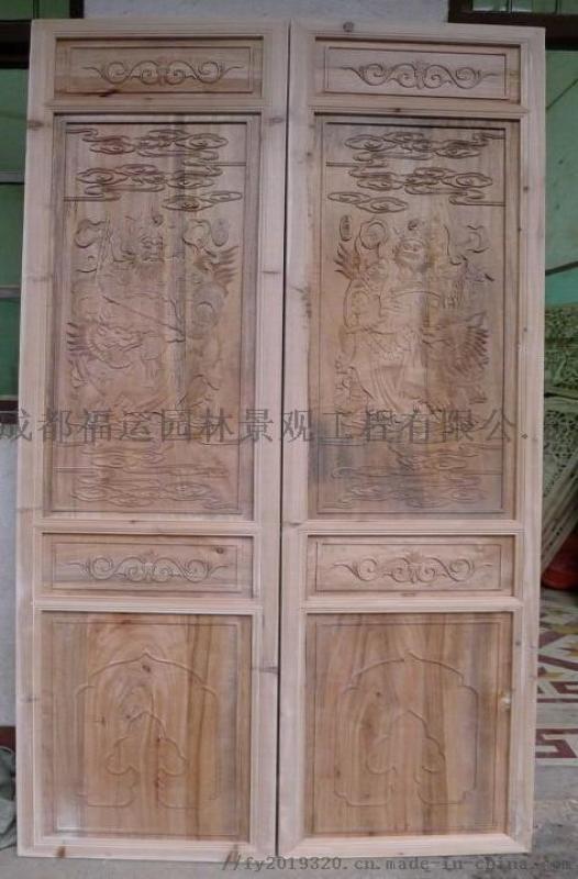 中式隔断防腐木花箱中式屏风博古架厂家