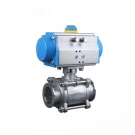 进口气动卡箍球阀-快装-气控-316L-卫生级