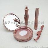 五磁睫毛盒包材套裝 皇冠磁性眼線液管 玫瑰金鑷子
