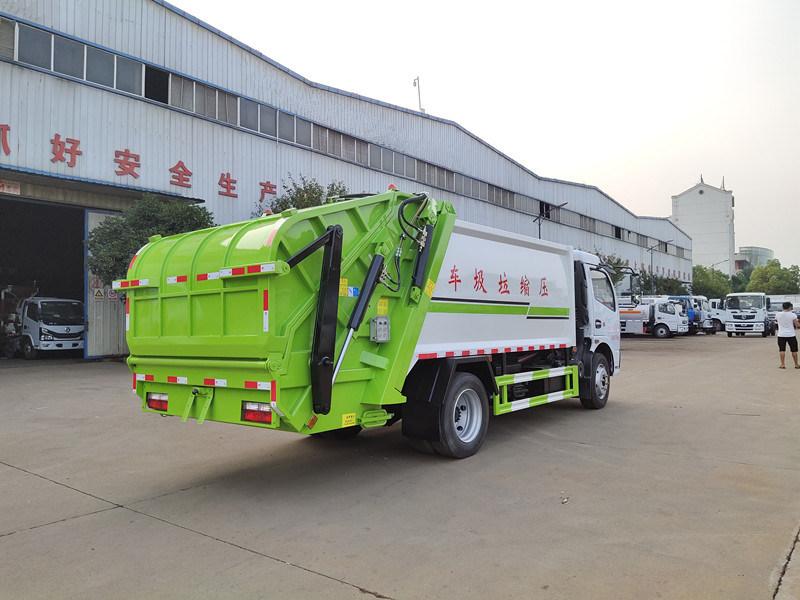 国六8吨挂桶垃圾压缩车