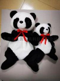 40cm卜卜郎正版仿真毛絨熊貓雙肩背包