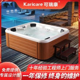户外多功能温泉泡池恒温加热泳池浴缸家用冲浪**浴池