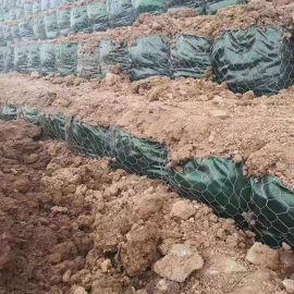 护坡绿化生态袋 PET土工石笼袋 富海厂家直销
