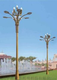 城市道路九头户外景观庭院led中高杆多头路灯