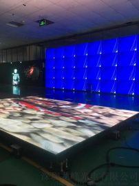 led互动自带感应地砖屏不需加其他设备