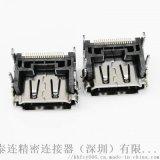 HDMI 19P母座 墊高2.5mm 90度四腳插板DIP 單排貼片SMT