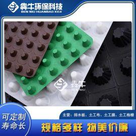 广东茂名排水板厂家 车库顶板绿化塑料排水板 型号全
