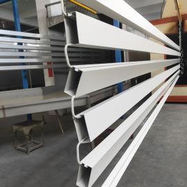 白色铝天花吊管 凹槽铝格栅 50x100铝方通