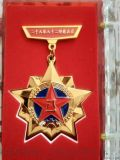 金色纪念章定制锌合金勋章制作炮兵团纪念章