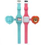 時霸手錶工廠熱銷新款兒童翻蓋卡通小動物LED手錶