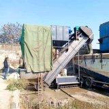 通畅粉煤灰卸集装箱设备 码头集装箱散水泥拆箱机
