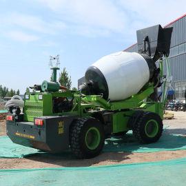 水泥全自动上料搅拌一体车 混泥土上料搅拌罐车厂家