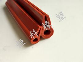 恒科供应U型硅胶包边条 边缘保护u型橡胶密封条