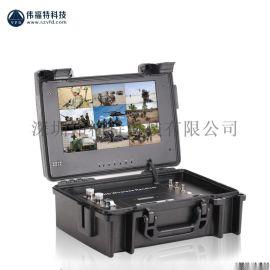 无线单兵视频图传便携式手提箱接收设备