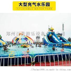 夏天来了经营大型支架游泳池吸引一波客户