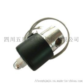 美标卫生级阀门不锈钢阀体圆形电磁阀
