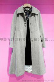 羊绒大衣秋冬新款折扣女装修身宽松中长款羊毛呢外套