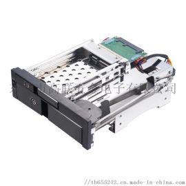 全铝合金机箱金光驱位硬盘盒2.5寸+3.5寸SATA带锁扩展存储硬盘托架