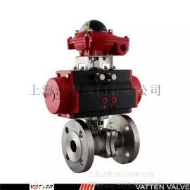 排氣管道應用氣動兩通法蘭球閥