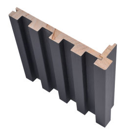 半圓凹凸實木格柵護牆板 快裝實木格柵沙發背景牆