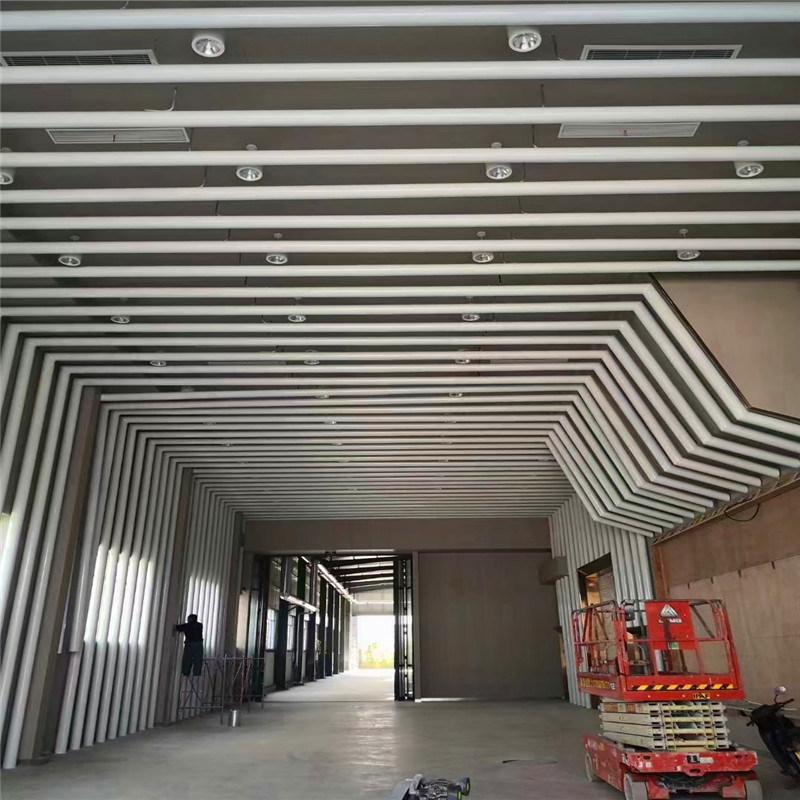 养护室木纹吊顶铝方通 淮北市白色U型铝方通吊顶