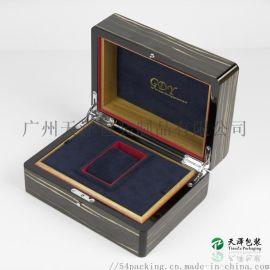 厂家定制手表包装盒饰品首饰盒黑檀木钢琴烤漆木盒