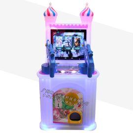 兒童投幣雙人槍機射擊模擬動感遊戲機退彈珠禮品設備