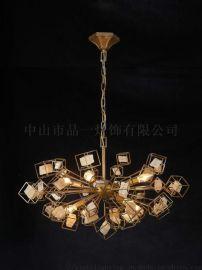 吊灯,铁,石头 PN6005P 中山