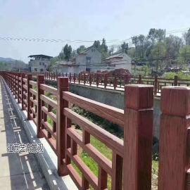 新农村建设水泥仿木栏杆,这生态仿古护栏颜值太高了