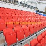 山東大型看臺座椅供應商 前置式翻板伸縮看臺
