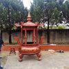 铸铁公墓圆形香炉 陵园圆形平口香炉生产厂家