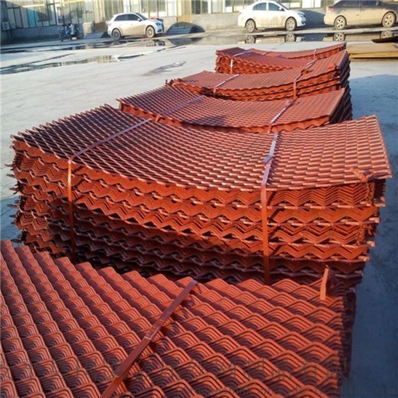 建築工地菱形腳踏網 紅色腳踏網  鋼芭片