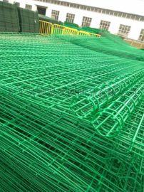 公路双边铁丝框架护栏网 公路铁丝防撞双边丝围栏网