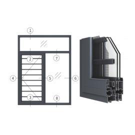 广东兴发铝材创高GL85A窗纱一体隔热外平开窗