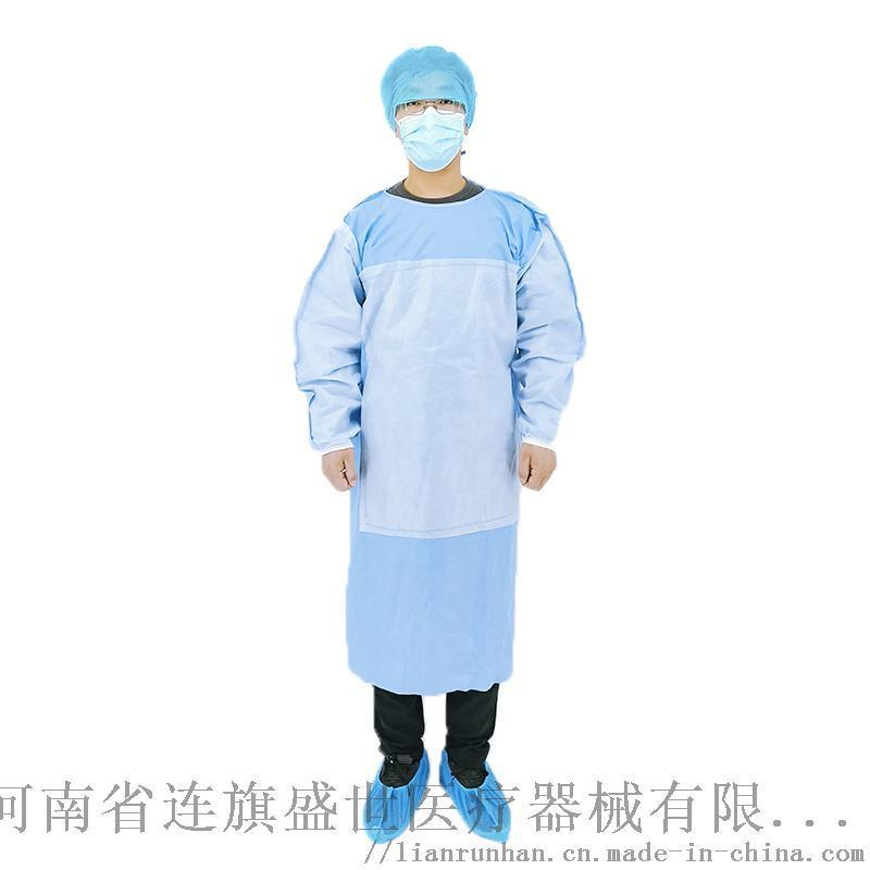 天津SMS无纺布带加强层大褂隔离衣
