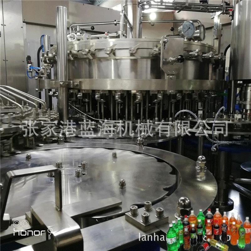 廠家直銷自動碳酸飲料灌裝機 三合一碳酸飲料果汁機械