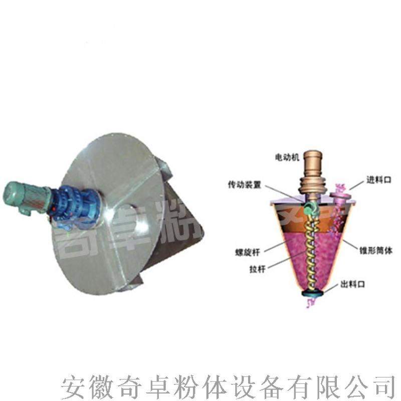 石油树脂加工不锈钢混合机,立式双螺旋锥形混合机