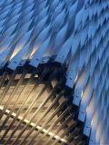 弧形可焊接鋁方通定製扭曲包柱鋁板廠家