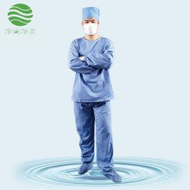 洁净内服蓝色涤棉分体服医疗生物制药耐高温防尘服